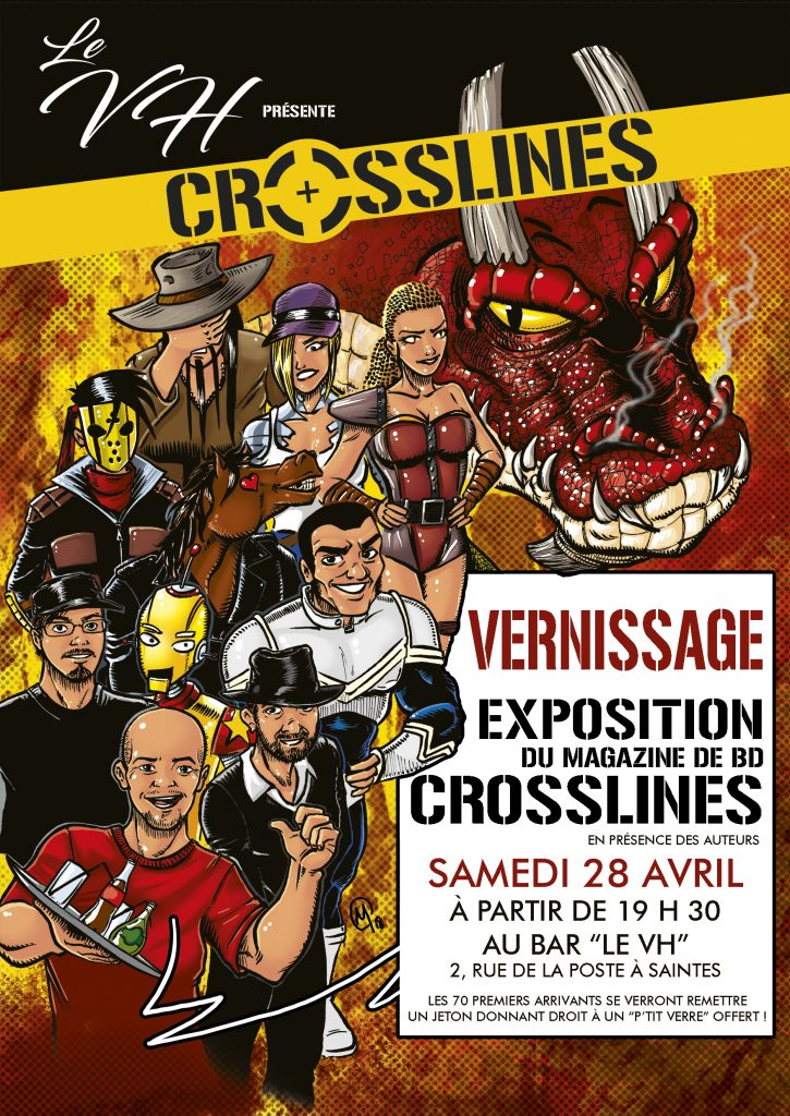 affiche vernissage exposition crosslines